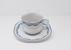 Paire tasse collector Giraud guirlande drapée 40 euros