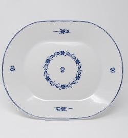 """Assiette """"Américaine"""" guirlande de Barbeaux"""" 27 cm 50 euros"""